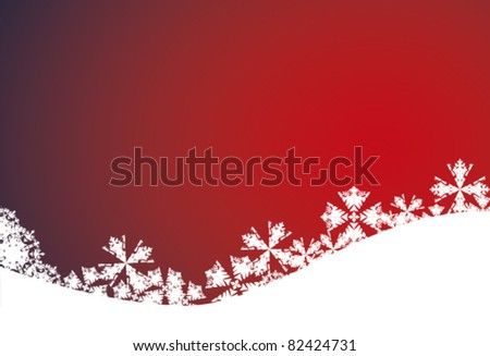 Red christmas background EPS vector illustration - stock vector