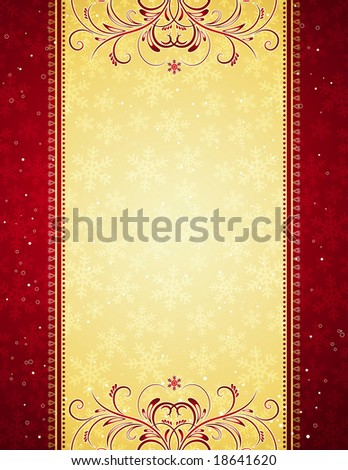 red christmas background, vector illustration - stock vector