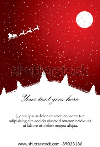 Red christmas background. Vector illustration - stock vector
