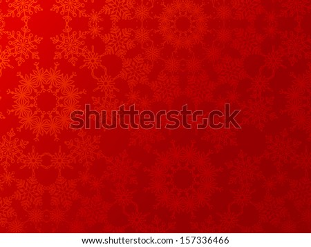 Red Christmas background. Vintage snowflakes. EPS 8. Festive background for your design. Christmas template. Space for your text. All objects are on separate layers. - stock vector
