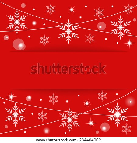 Red Christmas background with place for your text, vector eps10 illustration - stock vector