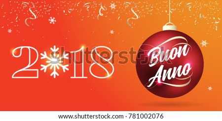 Buon imgenes pagas y sin cargo y vectores en stock shutterstock red christmas ball with lettering ribbon type 2018 happy new year badge italian m4hsunfo
