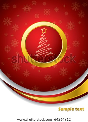 Red christmas brochure - stock vector