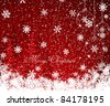 Red Christmas decoration background - stock vector