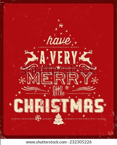 Red Christmas Greeting Card - stock vector