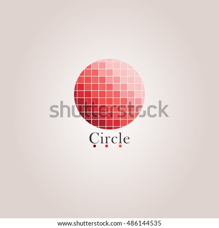 Red Chromatic Color Circle Vector Design With Background