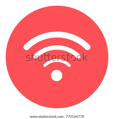 red circle wifi icon vector flat stock vector royalty free