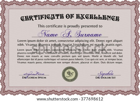 Certificate Diploma Template Reward Winning Competition – Money Certificate Template