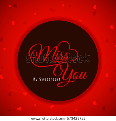 Red color miss you greeting card stock photo photo vector red color miss you greeting card m4hsunfo