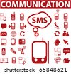 red communication signs. vector - stock vector