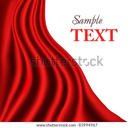 Red curtain background. Vector. - stock vector