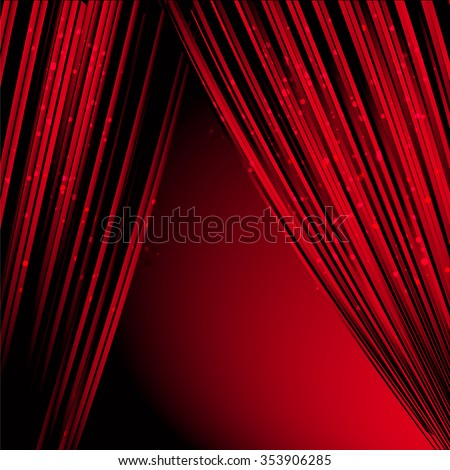 Red Curtain On A Black Background