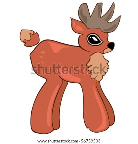Red deer. - stock vector