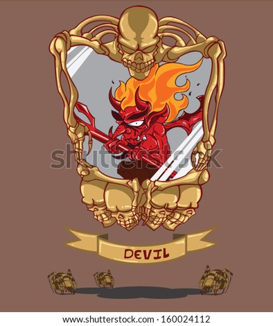 Red Devil - stock vector