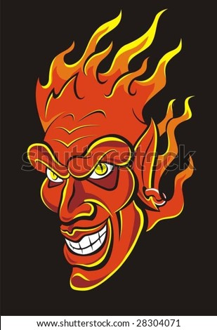 Red devil vector illustration