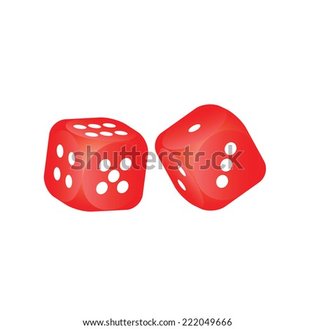 Red dice - stock vector