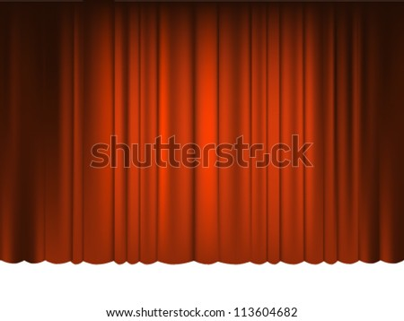 Red Draped Theater. Vector - stock vector