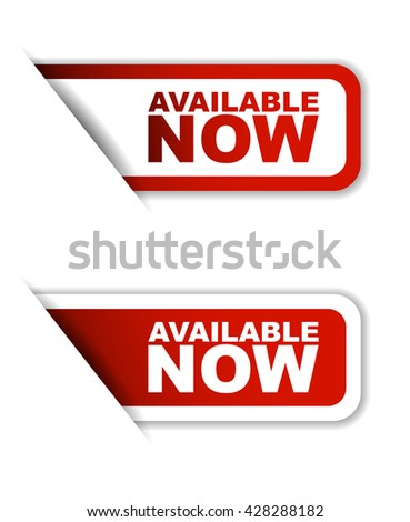 Red easy vector illustration isolated horizontal banner available now two versions. This element is well adapted to web design. - stock vector