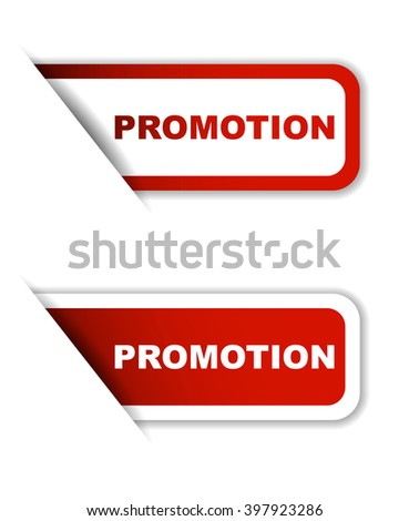 Red easy vector illustration isolated horizontal banner promotion two versions. This element is well adapted to web design. - stock vector