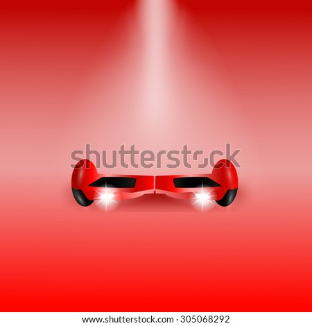 Red Electric scooter - stock vector