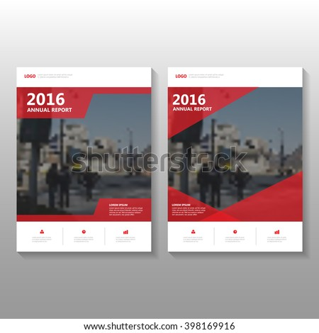 Red elegance Vector annual report Leaflet Brochure Flyer template design, Poster book cover layout design - stock vector