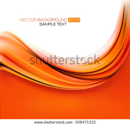 Red elegant abstract background illustration - stock vector