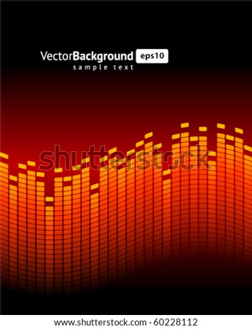 Red equalizer vector background - stock vector