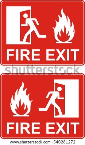 Fire exit signs red or green