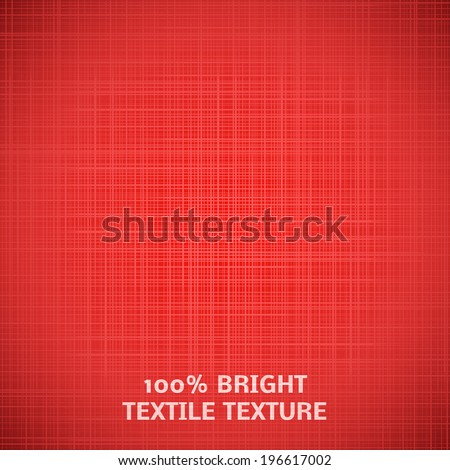 Red fabric texture. Vector illustration for your elegant design. Beautiful realistic effect. Chic romantic cover for book, bag, web page background, surface. Bright attractive style. - stock vector