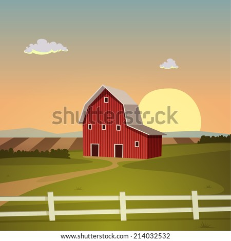 Farm Barn cartoon barn stock images, royalty-free images & vectors