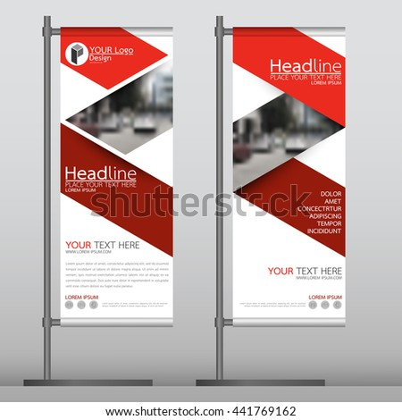 Red Flag Banner Business Brochure Flyer Stock Vector 443012074 ...