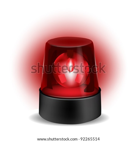 Red Flashlight isolated on white - stock vector