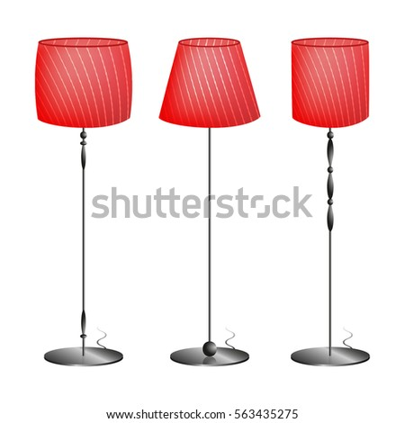 Red floor lamp different types vector stock vector 563435275 red floor lamp of different types in the vector aloadofball Choice Image