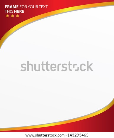 red frame text abstract backgroundvector stock vector royalty free