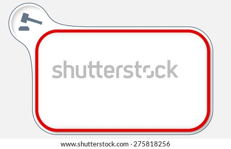 Red frame for your text and law symbol - stock vector
