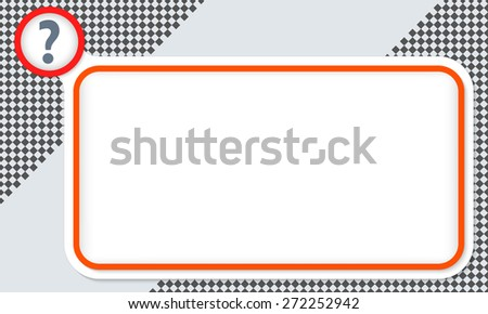 Red frame for your text and question mark - stock vector