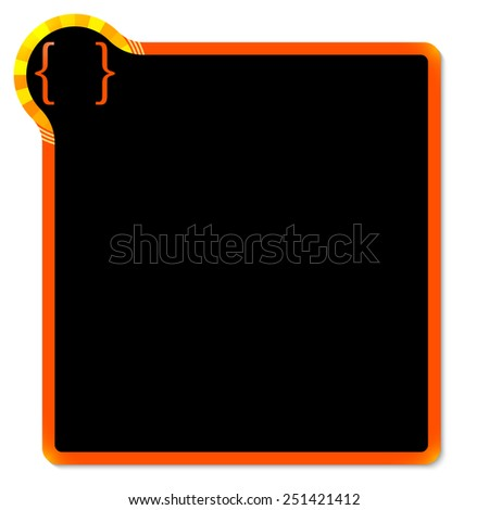 red frame with yellow corner and brackets - stock vector