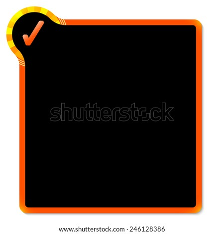 red frame with yellow corner and check box - stock vector