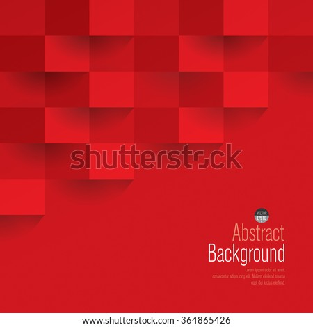 Red geometric vector background. Can be used in cover design, book design, website background, CD cover or advertising.