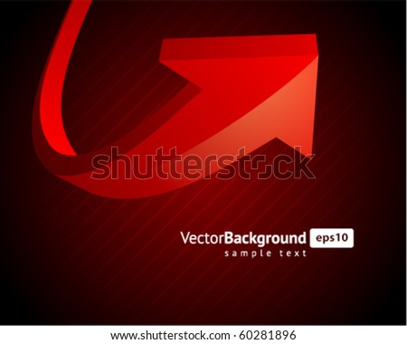 Red graph arrow move up vector background - stock vector