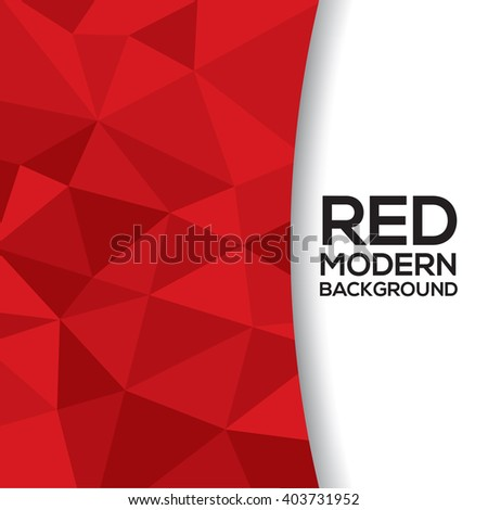 Red Graphic Background With White Space