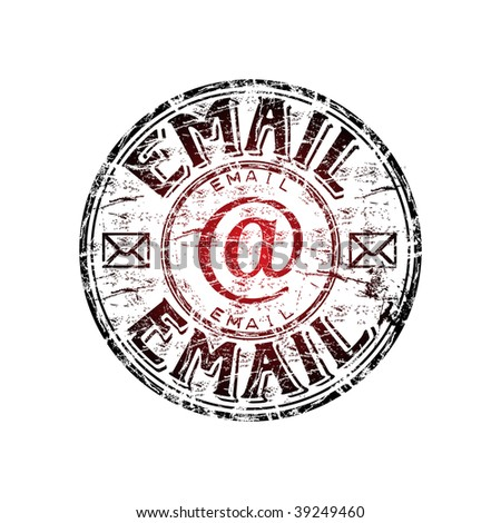 Red Grunge Rubber Stamp Envelope Symbols Stock Vector 39249460