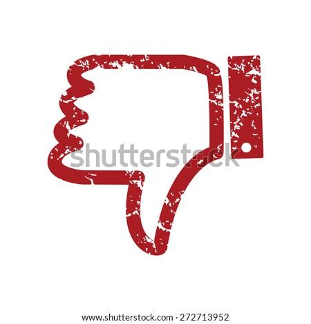 Red grunge unlike logo on a white background. Vector illustration - stock vector