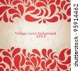 Red grunge wallpaper for Christmas design. EPS 8 vector illustration. - stock vector