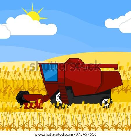 Tractor In Field Stock Vectors, Images & Vector Art | Shutterstock