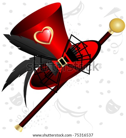 red hat - stock vector