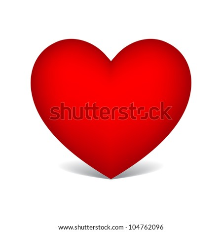 red heart - stock vector