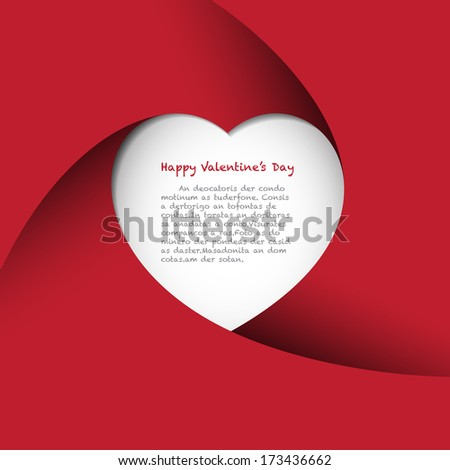 Red Heart Background.Illustration eps10 - stock vector