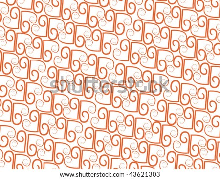 Red Heart Background Pattern - stock vector