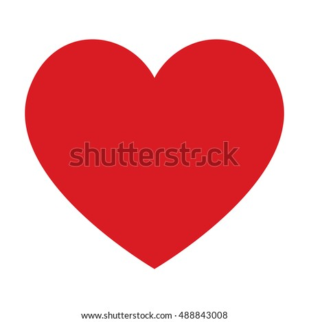 red heart icon stock vector 488843008 shutterstock